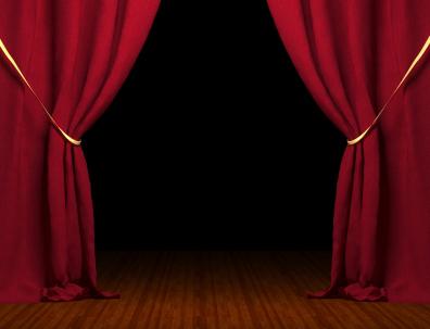 Röda teatergardiner